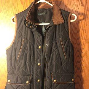 Black Ralph Lauren riding vest